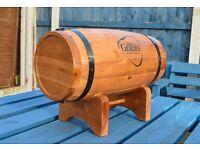 Grants Vintage Scottish Whiskey Pine Barrel Bottle Holder Display For Home