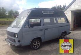 VW Volkswagen T25 transporter camper or day van. Primed ready to paint. Free Haynes manual.