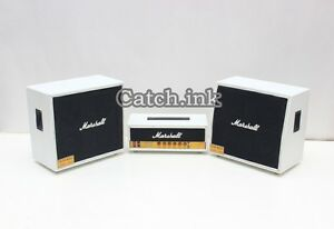Miniature Guitar Bass Amplifier Marshall JCM 800 White Amp for Display Only