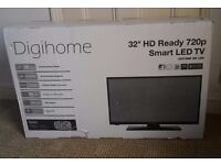 "32"" smart TV with built in wifi and separate dvd player - brand new"