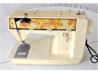 Singer Starlet 353 vintage sewing machine with 70's floral design