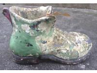 Concrete Boot Garden Planter