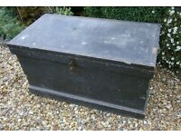 Good quality antique carpenters tool chest / coffee table storage box