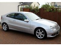 Mercedes Coupe C180K Automatic, Only 51542 Miles, Full Service History, Leather, Immaculate Car...