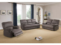 Diamond 3 & 2 Reclining Sofa or Corner Sofa in Chocolate Free Delivery & Home Assembly Incl.