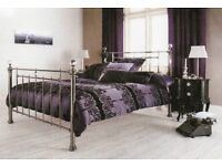Chrome & Crystal Double Bed Frame
