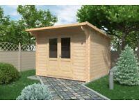 Siena Log Cabin 3m x 3m (28mm) - Garden Room Summer House Office Shed