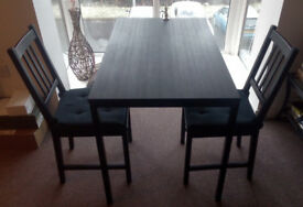 Basic IKEA dining set - table and 2 chairs