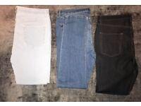 Three pairs of Men's skinny jeans -- all 38inch waist, 32inch leg