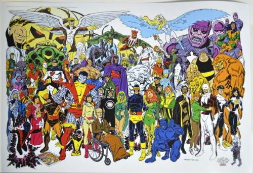 X-MEN FOREVER PRINT John Byrne art Heroes & Villains