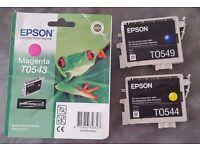 Three Epson Ink Cartridges - new and unused