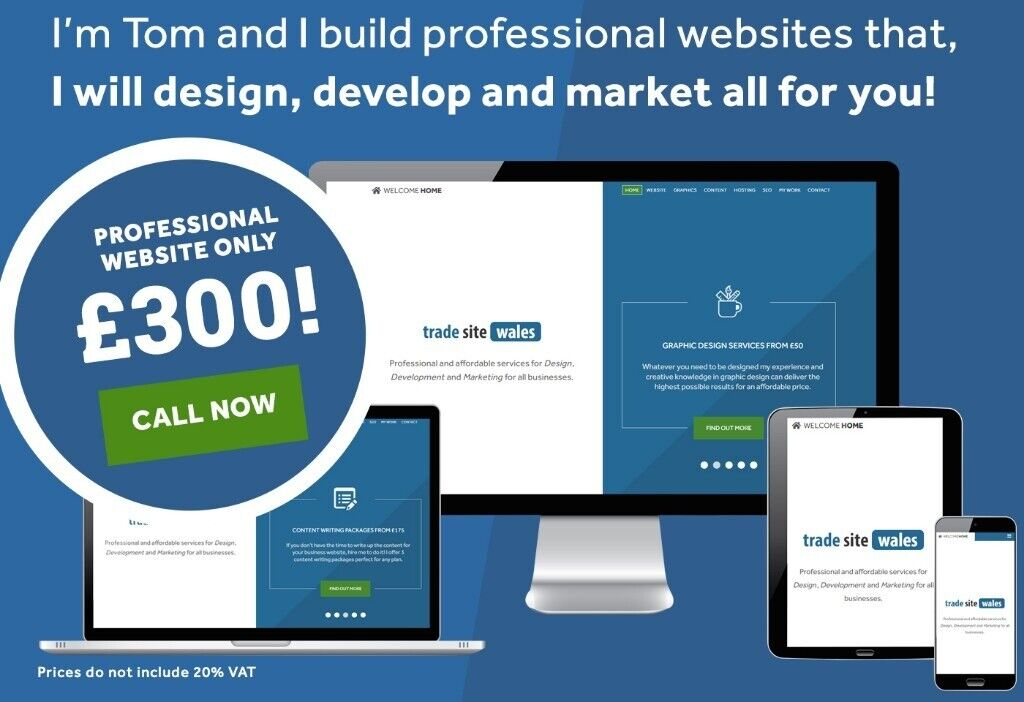 6-Page Professional Website for £300!   Web Design