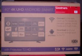 """Goodmans 40"""" 4k UHD android smart tv-- faulty"""