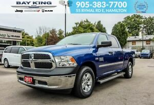 "2017 Ram 1500 SXT CREW CAB, 4X4, BLUETOOTH, 17"" WHEELS, GOLD PLA"