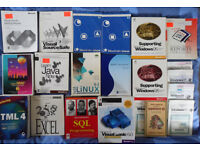 assorted books on programming / Windows / design vgc