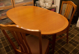 Teak dining table and chairs