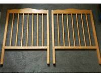 Wooden cot for sale, needs gone asap. Lhanbryde