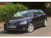 2009 09 REG AUDI A3 E SPORT 1.9 TDI 5DR SPORTBACK LOW MILEAGE £30 ROAD TAX A YEAR PX WELCOME