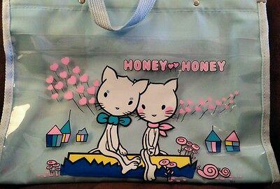 Super rare vintage Honey kitty cats tote bag Hyashi japanese anime harajuku