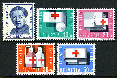 Switzerland B324-B328, MNH. Red Cross, Anna Heer, 1963