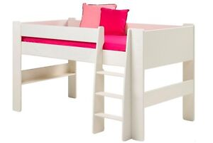 Steens White Memphis Mid Sleeper Cabin Bed 90cm x 190cm - 3 Day Promotion