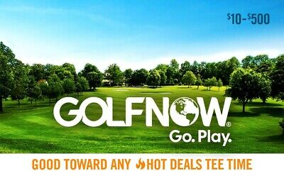 250$ GolfNow Gift Card Valid In USA