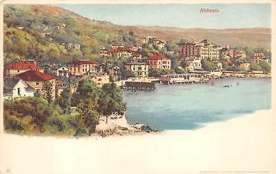 OPATIJA - ABBAZIA, CROATIA ~ TOWN & HARBOR OVERIVEW ~ c. 1902