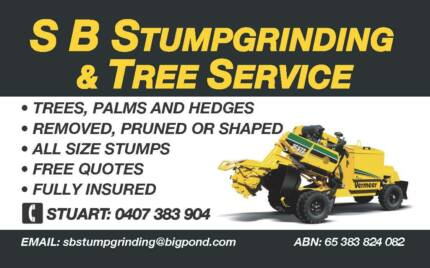 S. B. STUMPGRINDING & TREE SERVICE - A Small Family Business
