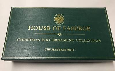 House of Faberge Christmas Egg Ornament Collection 12 Jeweled Eggs Franklin Mint