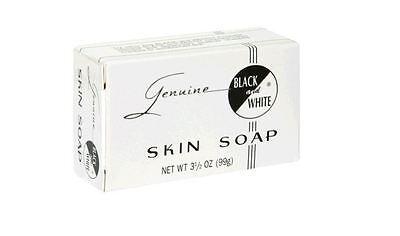 Black - White Skin Soap Bar 3.5 oz