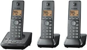 Panasonic KX-TG2723ALM Cordless Phone Triple Pack NEW