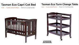 Tasman Eco Cot and Change Table Annandale Leichhardt Area Preview