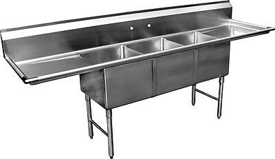 Ace Ss 3 Compartment Sink 18 X 18 With Two 18 Drainboards Etl Se18183d-01