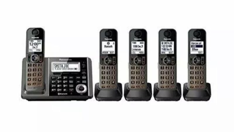 New Panasonic Cordless Bluetooth Phone System Link 2 Cell Dect 6.0 + KX-TG585SK