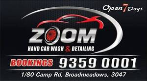 ZOOM HAND CAR WASH  TRUCK WASH & DETAILING STEAM CLEANING Broadmeadows Hume Area Preview