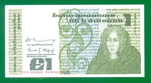 Ireland Republic 1 Pound 1981 P70b  Unc