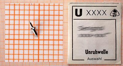 eine UNRUHWELLE für A-Uhr oder T-Uhr: AUSWAHL aus 1000 U-Nummern: Unruhwellen