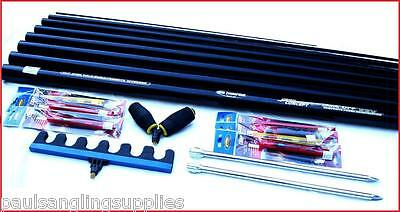 8m   Ambassador Fishing Pole 14 Elastic Fitted & Float Rigs Roost Roller Rest