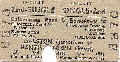 B.T.C. Edmondson Ticket - Caledonian Road to Dalston Junct. or Kentish Town West