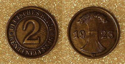 Weimar 2 Rentenpfennig 1923G  *517*