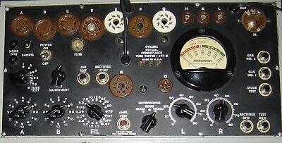 Vintage I-177 A B Tube Tester Calibration Service