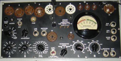 Vintage I-177, A, B Tube Tester Calibration Service