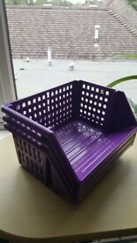 Purple storage rack / basket 3 tiers £6