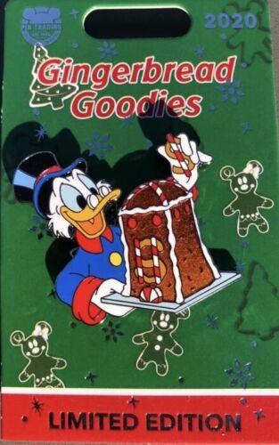 Disney 2020 Disneyland Scrooge McDuck Gingerbread Goodies Holiday Pin LE 1500