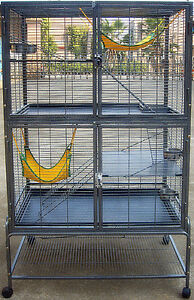 FERRET & RAT KINGDOM CAGE FOR FERRETS & RATS NARROW BAR SPACING 1.25CM  RRP $695