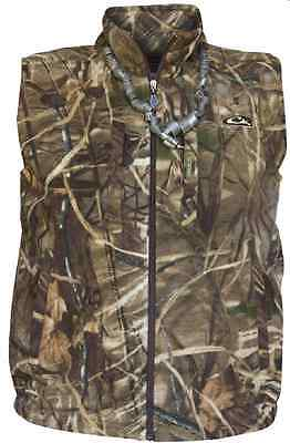 size 40 ad313 03a2f Drake Waterfowl 160 MAX4 Camo Fleece Vest Medium 17552
