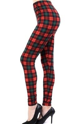 NEW Mommy and Me Christmas Plaid Holiday Leggings OS,Girls S/M/L Buttery Soft