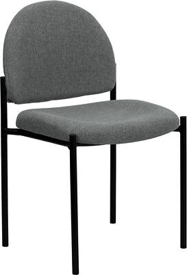 Lot Of 10 Gray Fabric Stack Office Guest Chairs