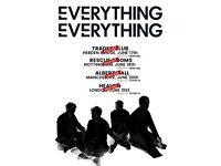 Everything Everything. Manchester Albert Hall. 2 x tickets for sale at face value. Charity donation.