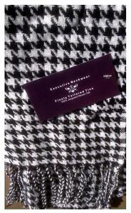Ultra-soft Houndstooth Patterned Cotton Fall Scarf (New with Tags)